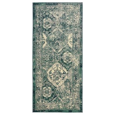 VONSBÄK Szőnyeg, rövid szálú, zöld, 80x180 cm