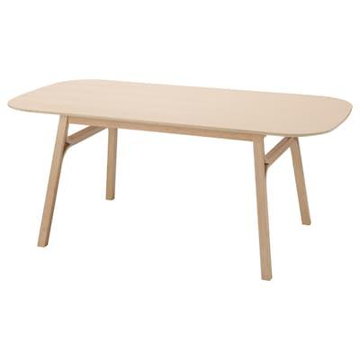 VOXLÖV Étkezőasztal, világos bambusz, 180x90 cm
