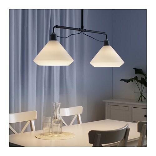 Lvngen pendant lamp double white ikea ikea lvngen pendant lamp double the height is adjustable to suit your lighting needs aloadofball Choice Image
