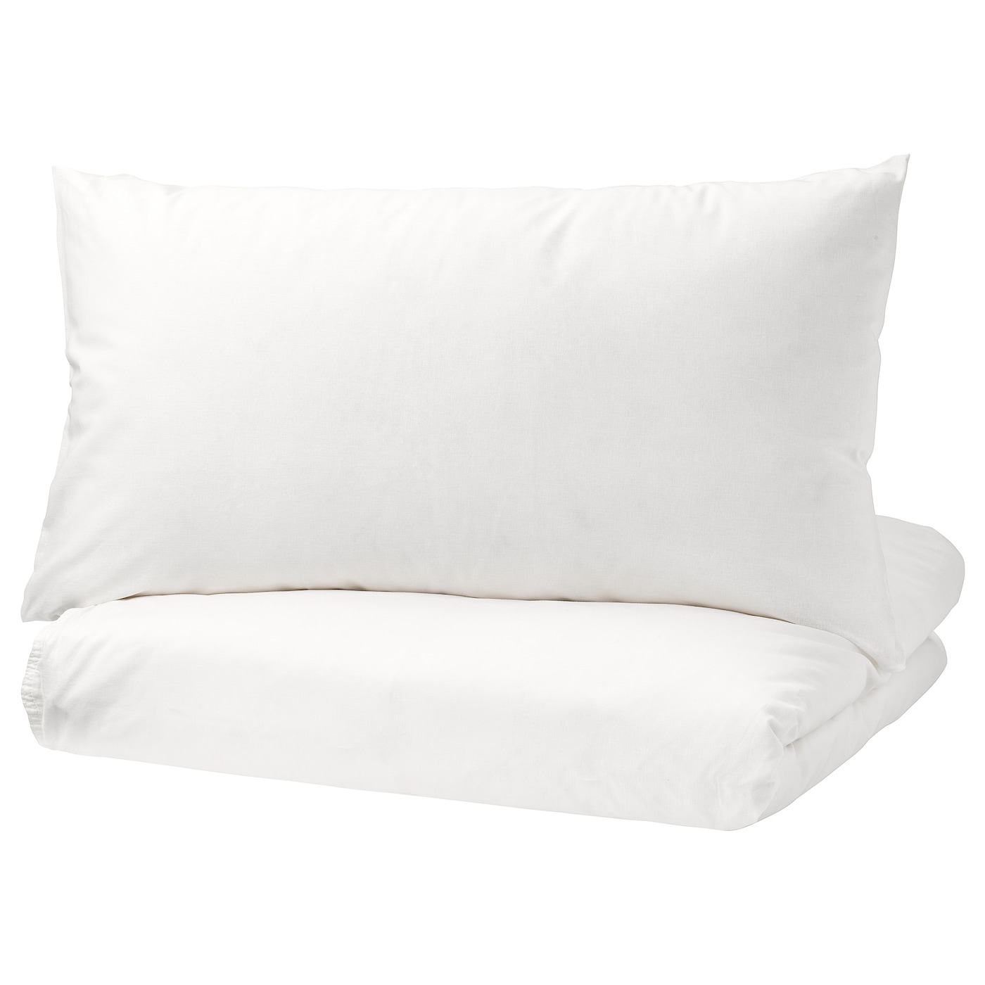 IKEA ÄNGSLILJA quilt cover and 2 pillowcases Pure cotton that feels soft and nice against your skin.