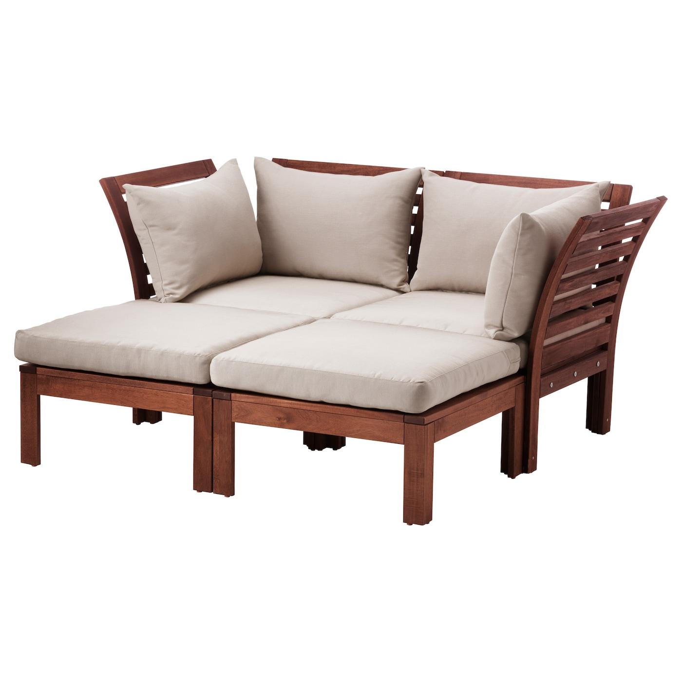 outdoor ikea furniture. IKEA ÄPPLARÖ 2-seat Sofa W 2 Footstools, Outdoor Ikea Furniture
