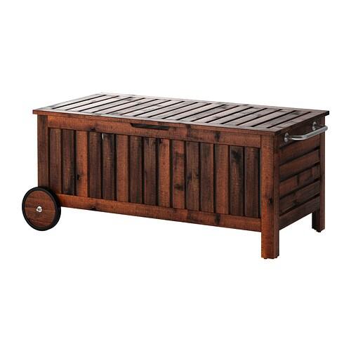 Ikea ÄpplarÖ Storage Bench Outdoor Wheels Make It Easy To Move