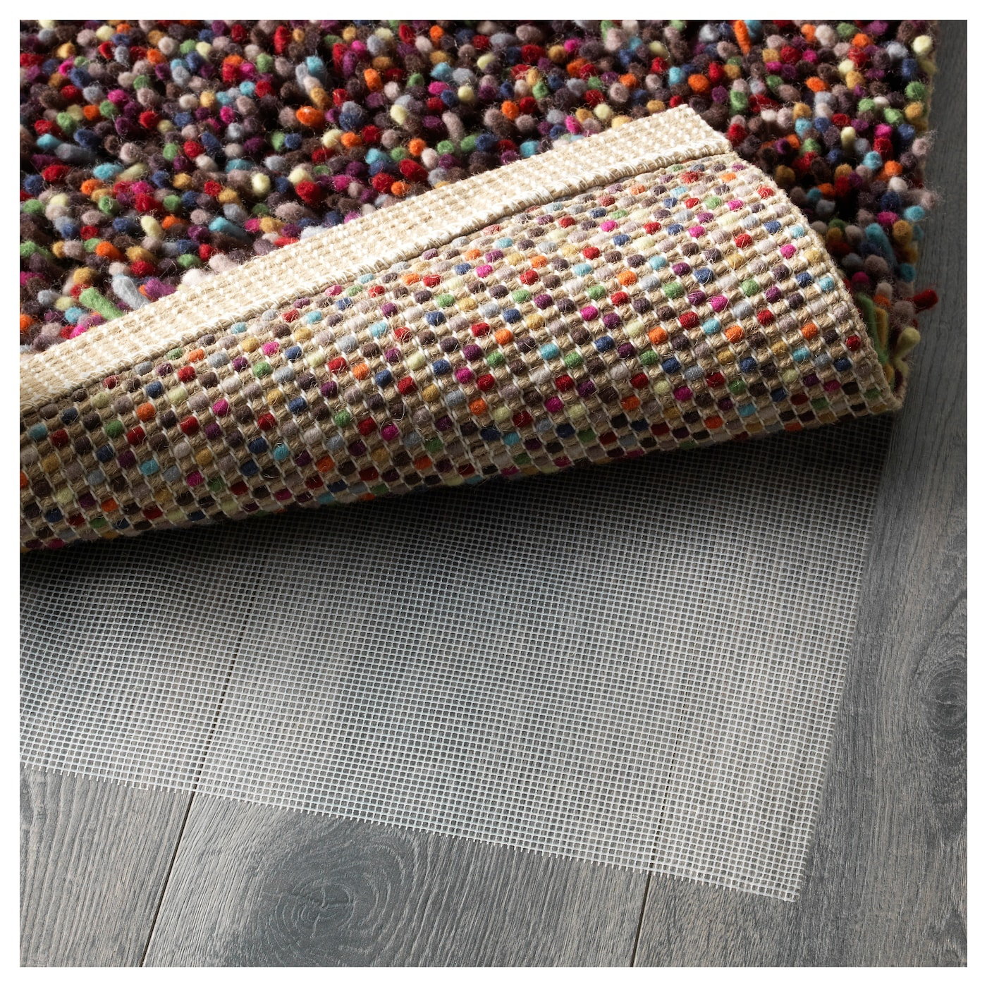 IKEA ÖRSTED rug, high pile Matches most colour schemes since the pile has 14 different colours.