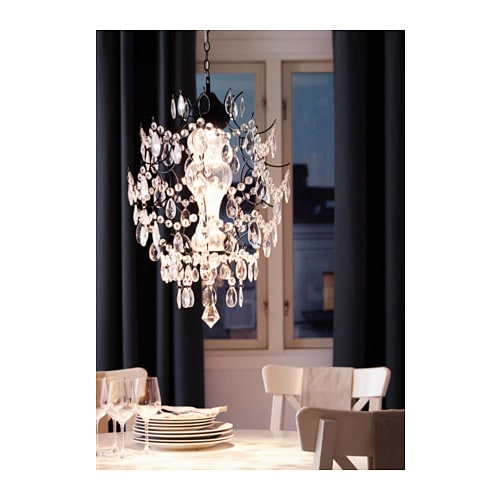 IKEA ÖRTOFTA chandelier Gives decorative patterns on the ceiling and ...