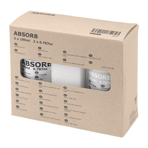 IKEA ABSORB leathercare set
