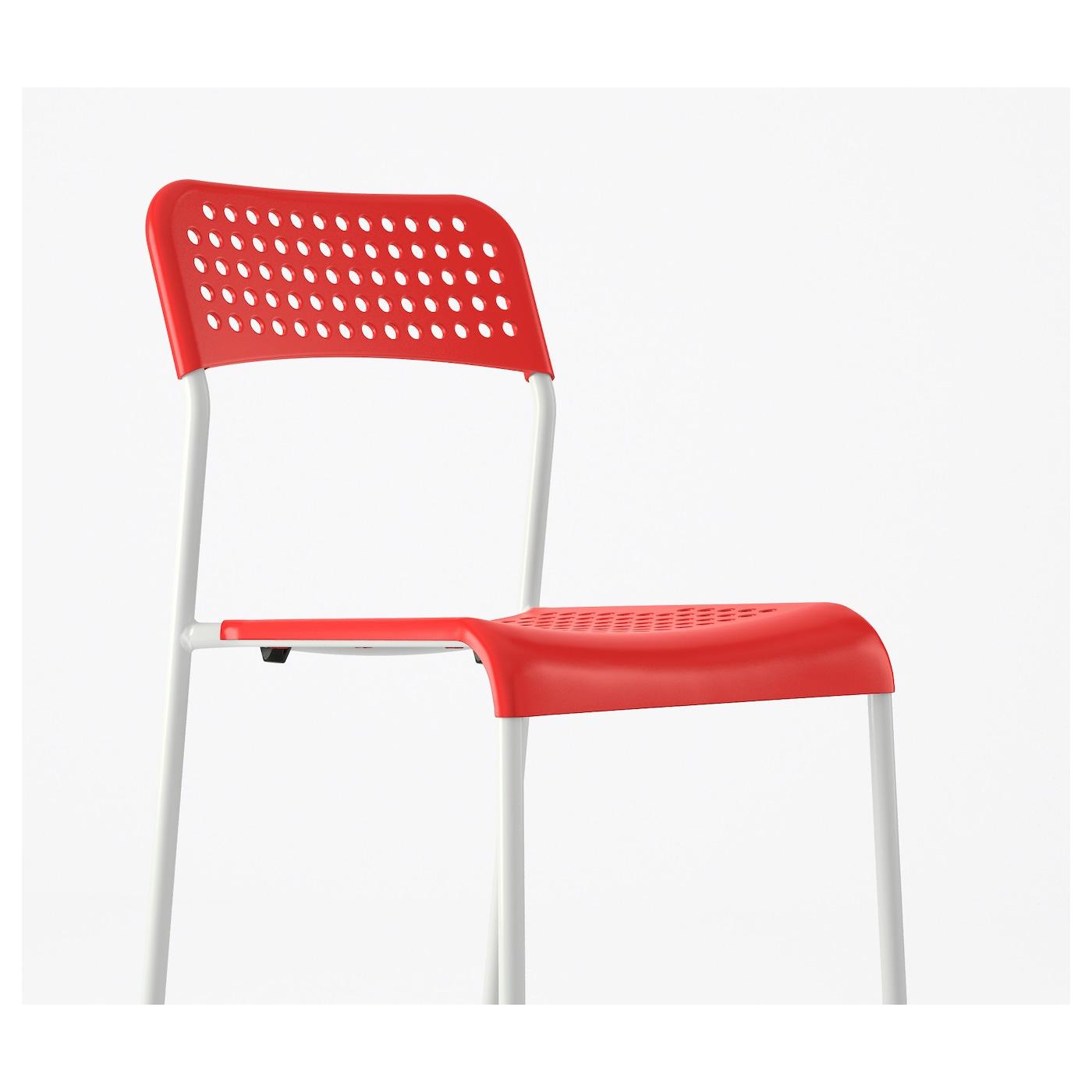 ADDE Chair Red white IKEA