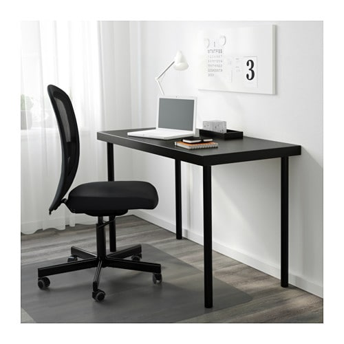 ikea adils leg adjustable feet make the table stand steady also on