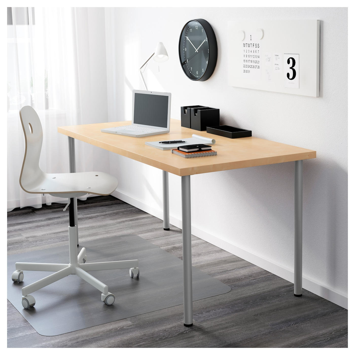 IKEA ADILS leg Adjustable feet make the table stand steady also on uneven floors.