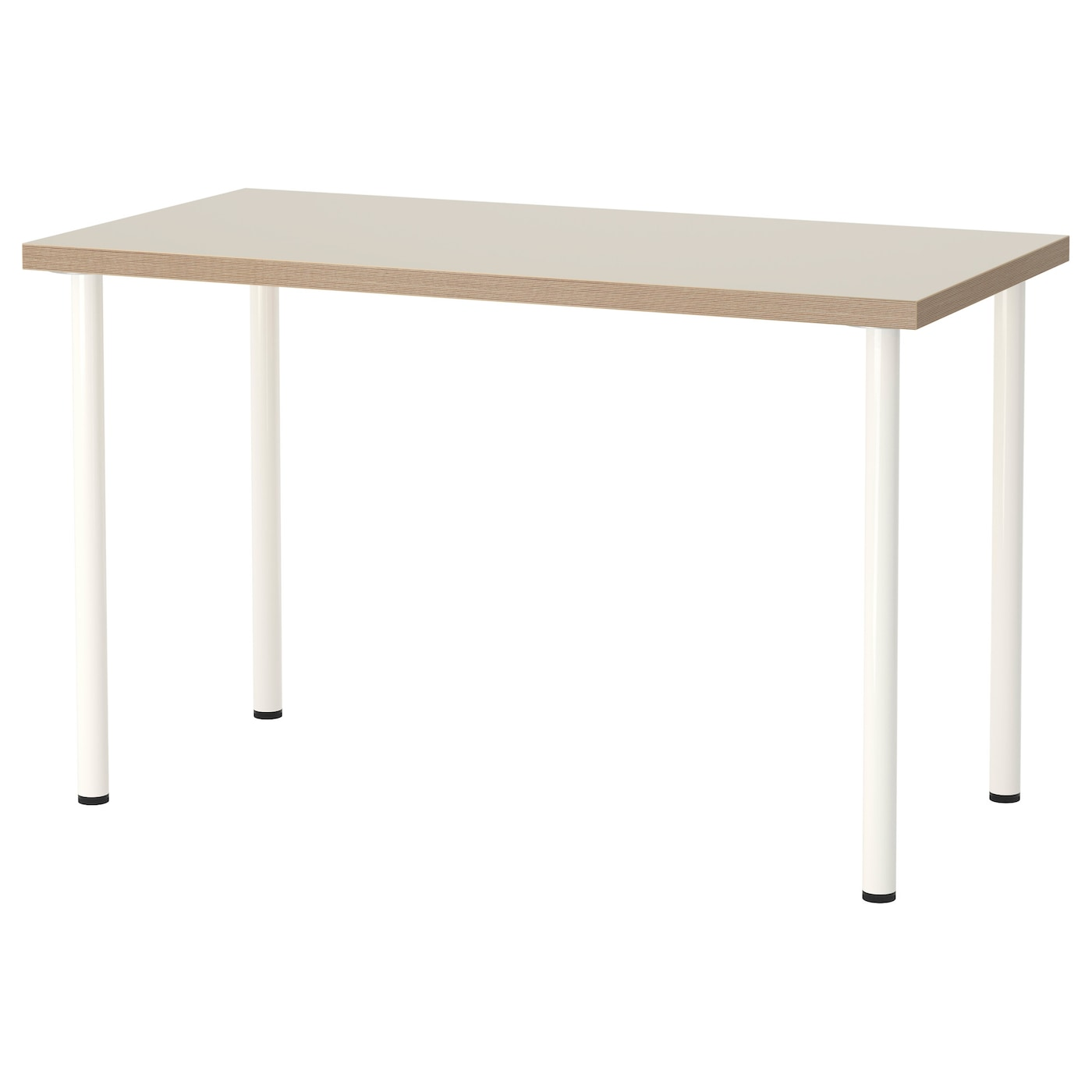 Adils linnmon table beige white 120 x 60 cm ikea - Mesa linnmon adils ...