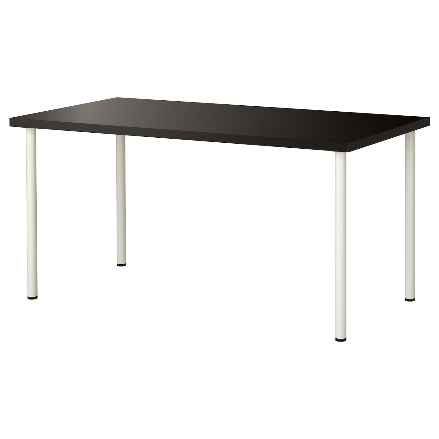 Adils linnmon table black brown white 150x75 cm ikea for Ikea desk black
