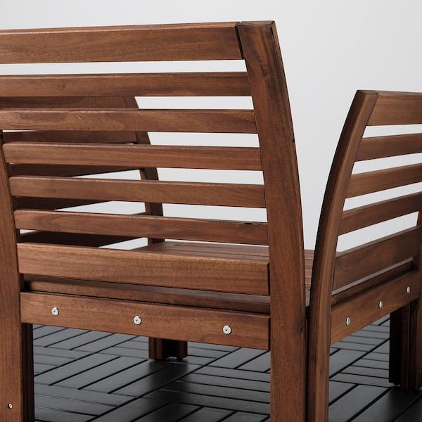 ÄPPLARÖ Armchair, outdoor, brown stained