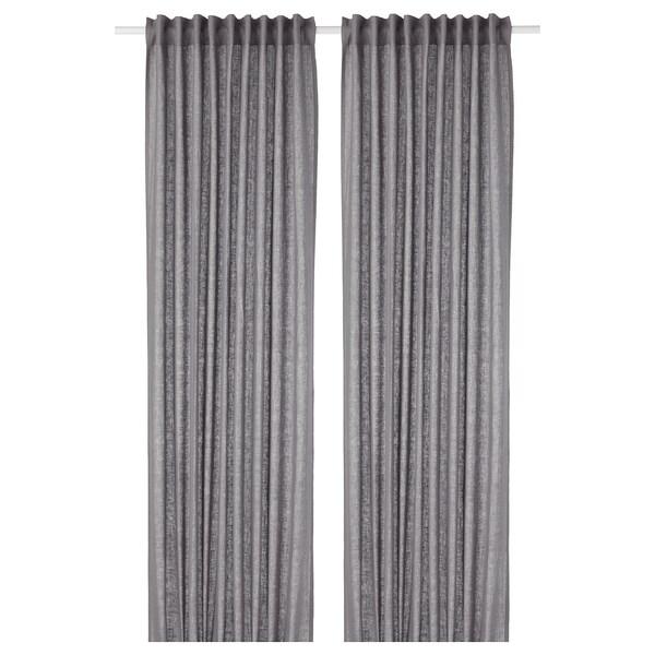 AINA curtains, 1 pair dark grey 250 cm 145 cm 1.60 kg 3.63 m² 2 pack