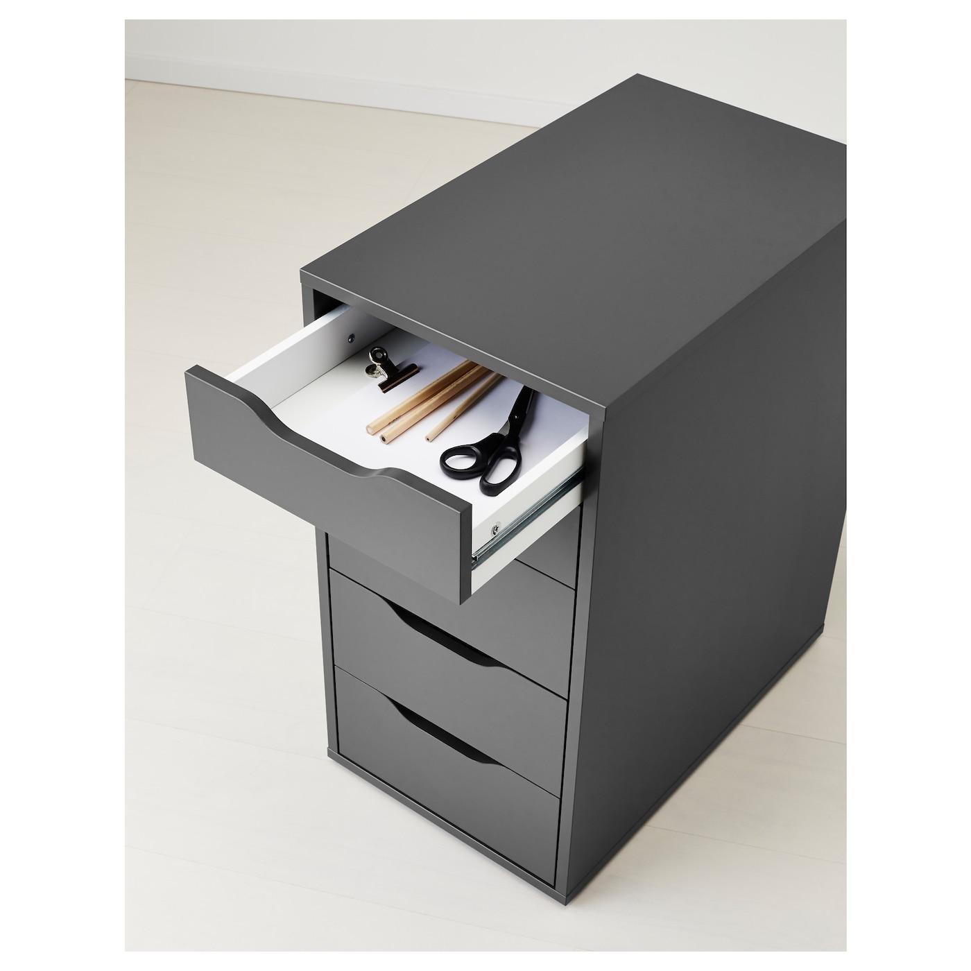 alex drawer unit grey 36 x 70 cm ikea