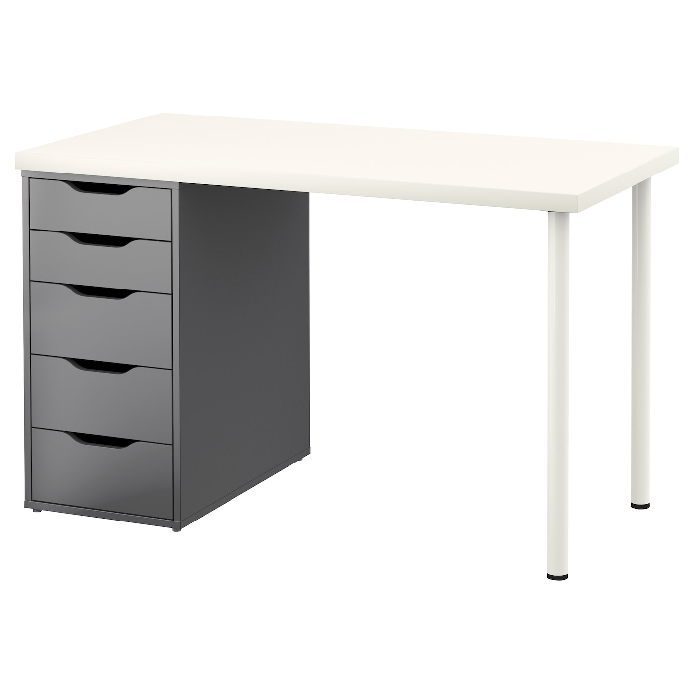 alex linnmon table white grey 120x60 cm ikea