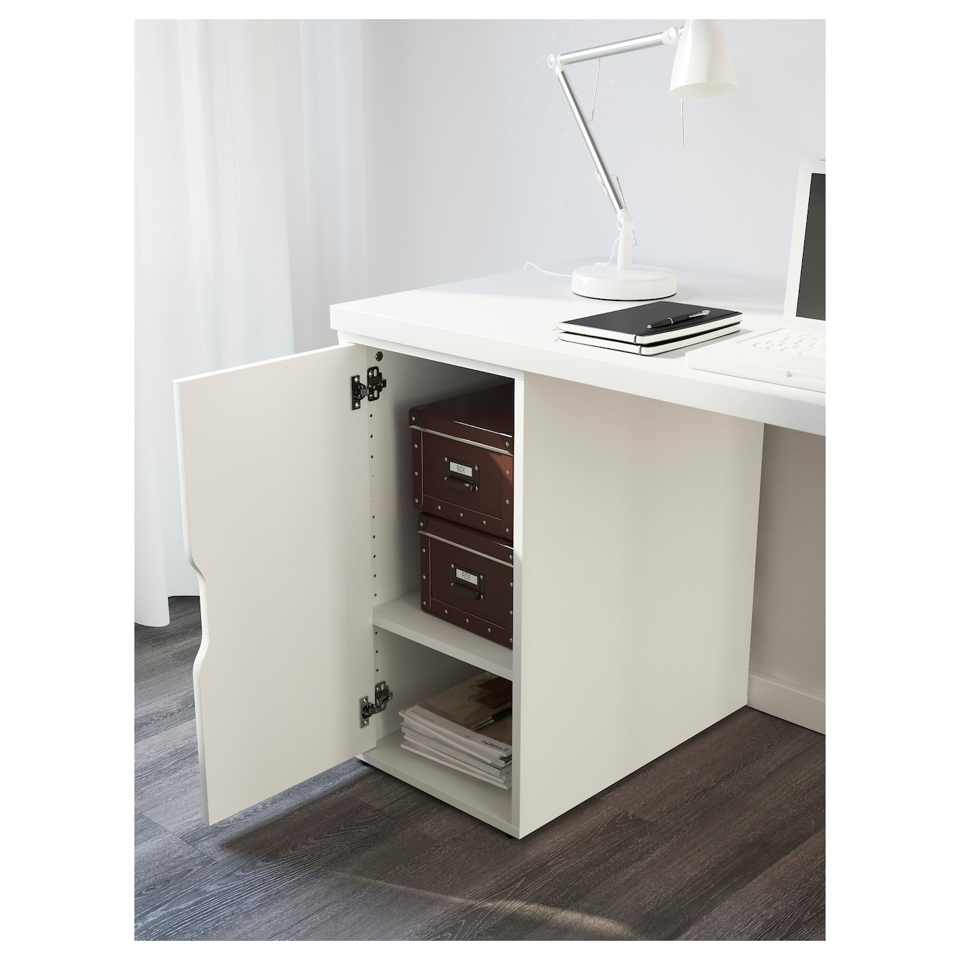 ALEX LINNMON Table White 120x60 cm IKEA