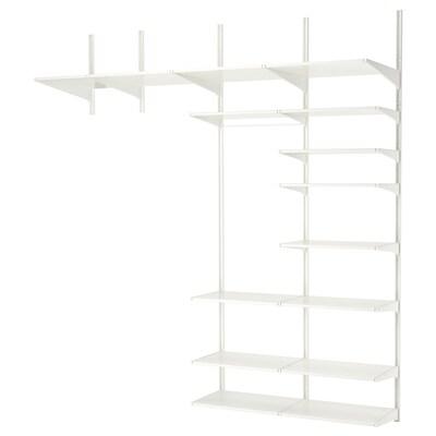 ALGOT 4 sections/shelves white 230 cm 61 cm 254 cm