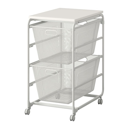 Ikea Algot Frame 2 Mesh Baskets Top Shelf