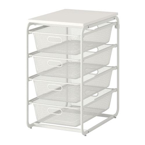 Ikea Algot Frame 4 Mesh Baskets Top Shelf