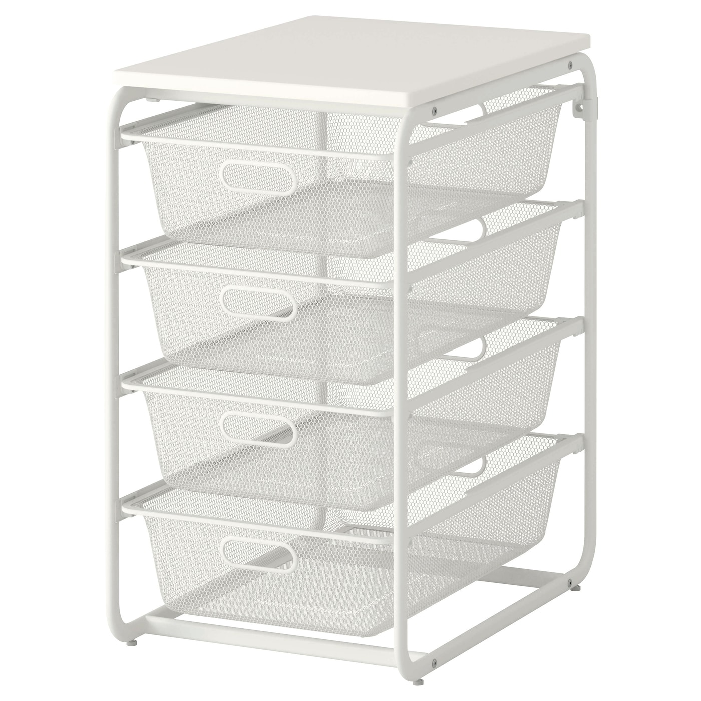 IKEA ALGOT frame/4 mesh baskets/top shelf