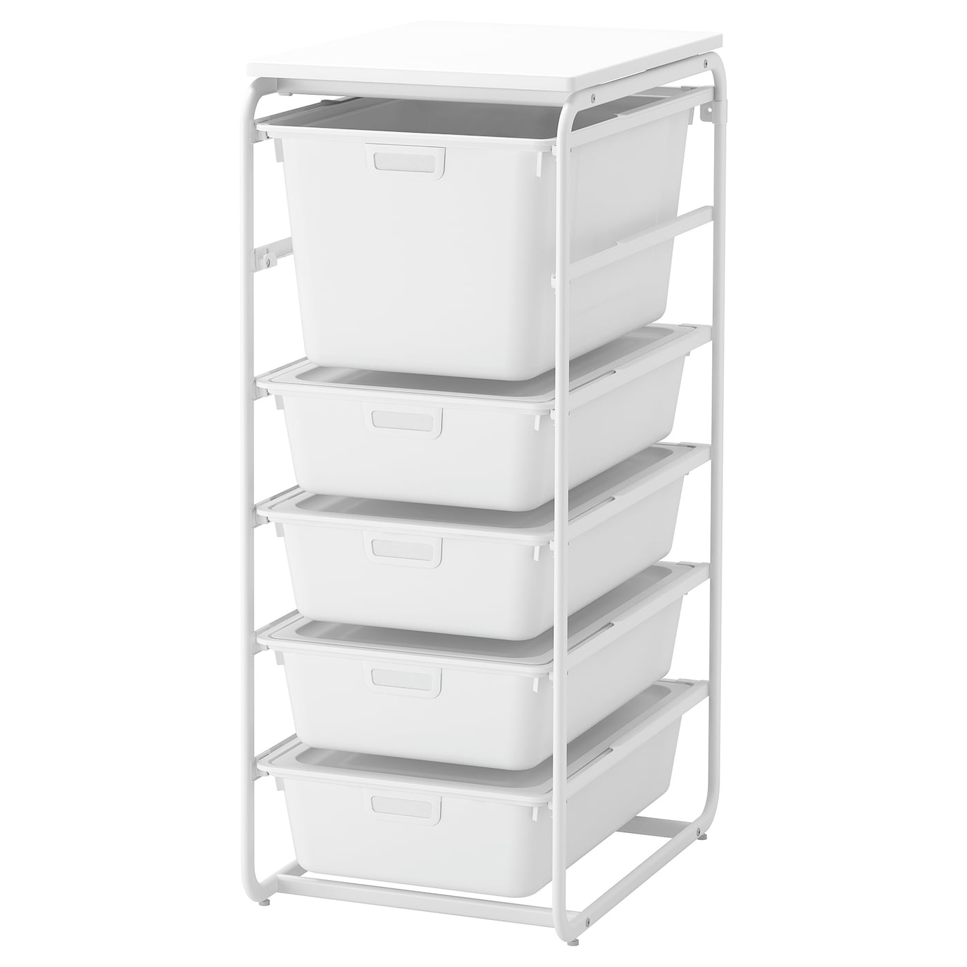IKEA ALGOT frame/5 boxes/top shelf Can also be used in bathrooms and other damp areas indoors.