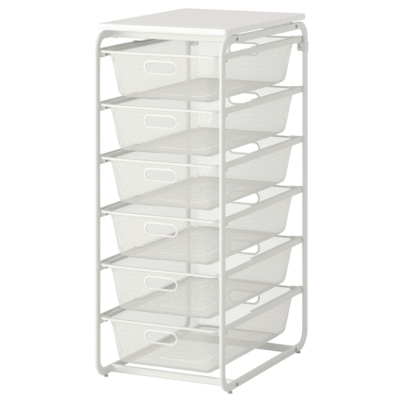 IKEA ALGOT frame/6 mesh baskets/top shelf