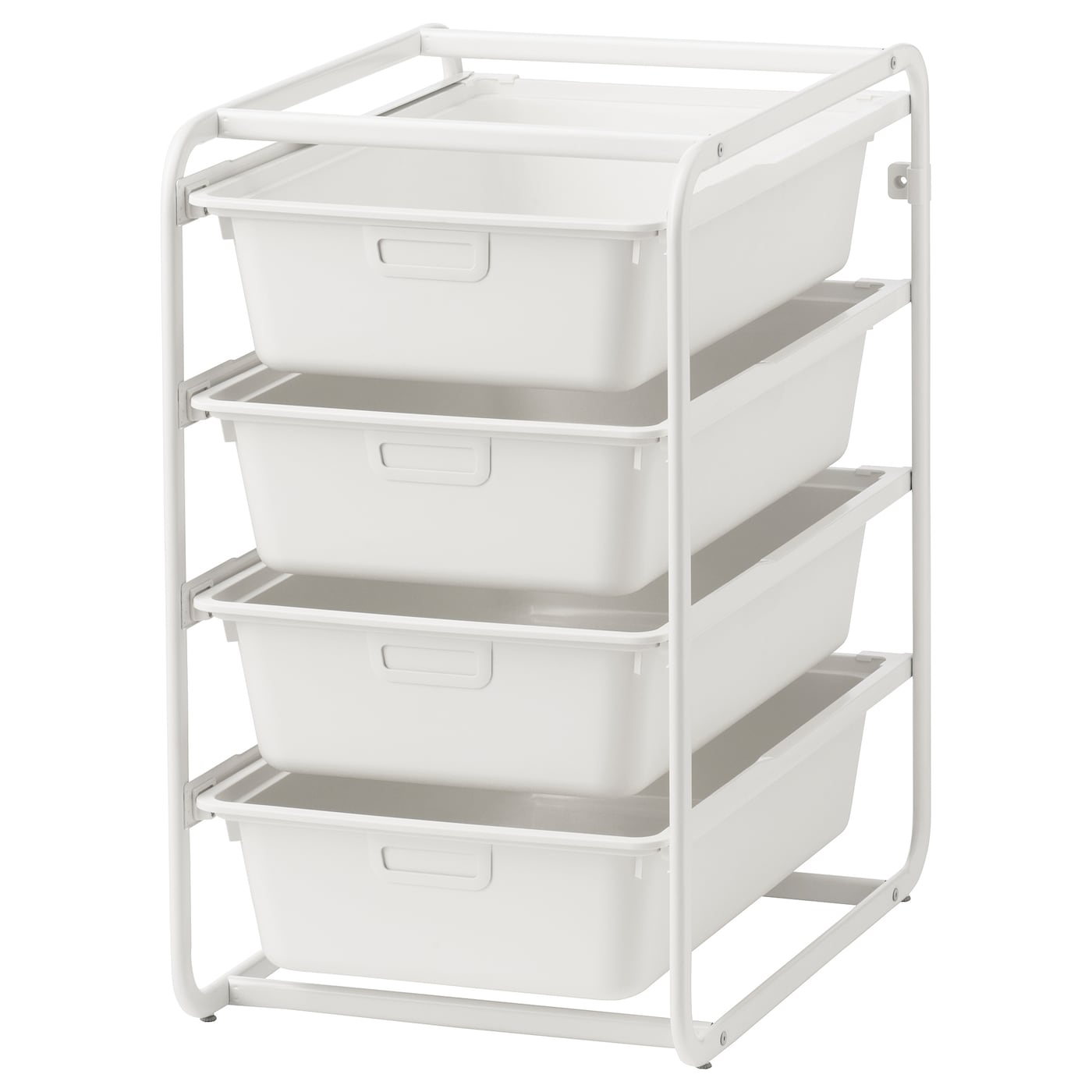 IKEA ALGOT frame with boxes Can also be used in bathrooms and other damp areas indoors.