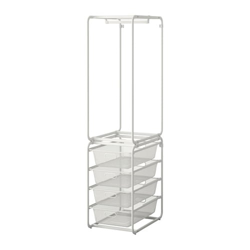 Ikea Algot Frame With Rod Mesh Baskets Can Also Be Used In Bathrooms And Other
