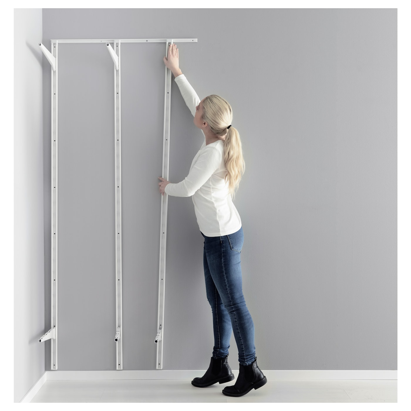 IKEA ALGOT mounting rail Can also be used in bathrooms and other damp areas indoors.