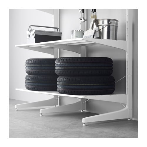 algot post foot shelves metal white 152x67x194 cm ikea. Black Bedroom Furniture Sets. Home Design Ideas