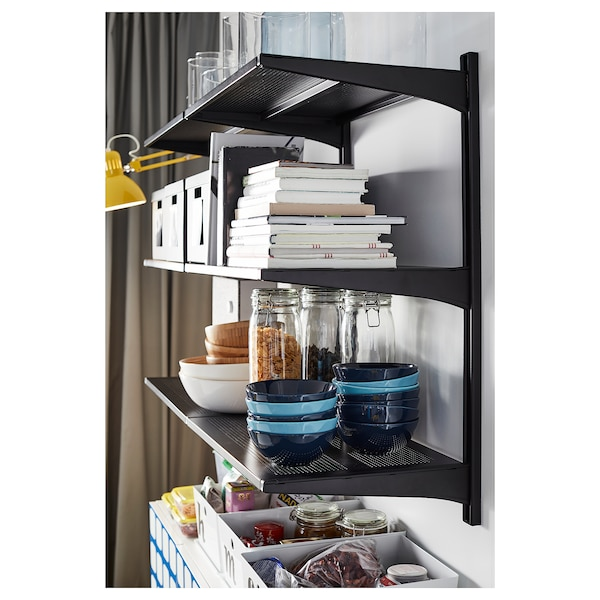 ALGOT Shelving unit, black, 127x41x85 cm