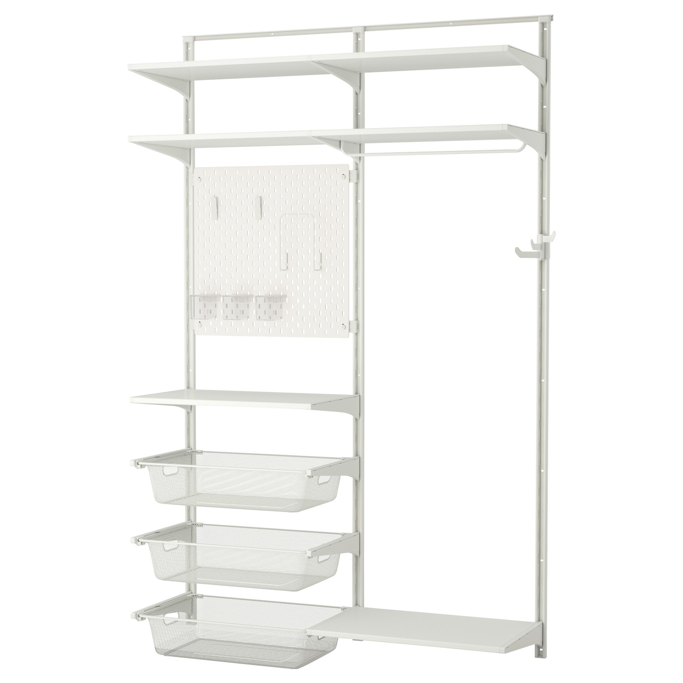 IKEA ALGOT/SKÅDIS wall upright/shelves/rod