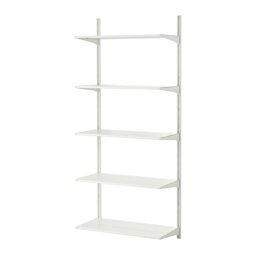 algot wall upright shelves metal white 65x40x196 cm ikea. Black Bedroom Furniture Sets. Home Design Ideas