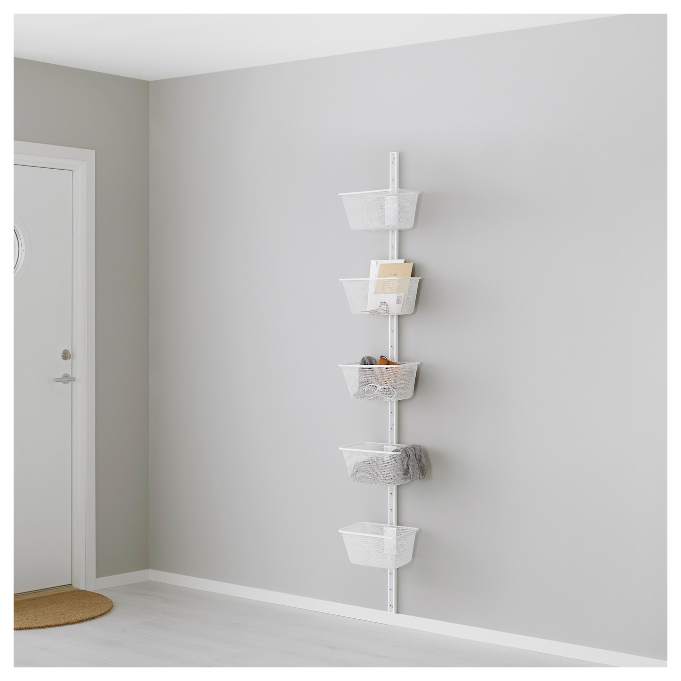 IKEA ALGOT wall upright/basket Can also be used in bathrooms and other damp areas indoors.