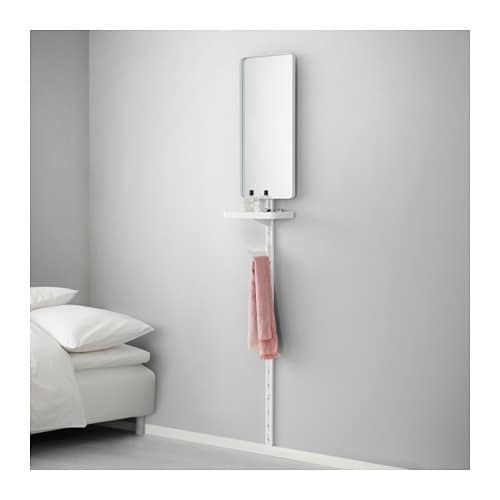 IKEA ALGOT wall upright/mirror/shelf Can also be used in bathrooms and other damp areas indoors.
