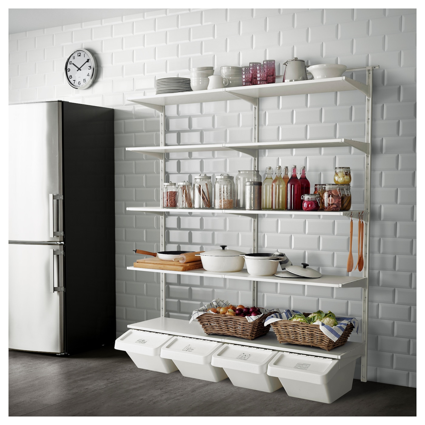 ikea algot wall storage combination. Black Bedroom Furniture Sets. Home Design Ideas