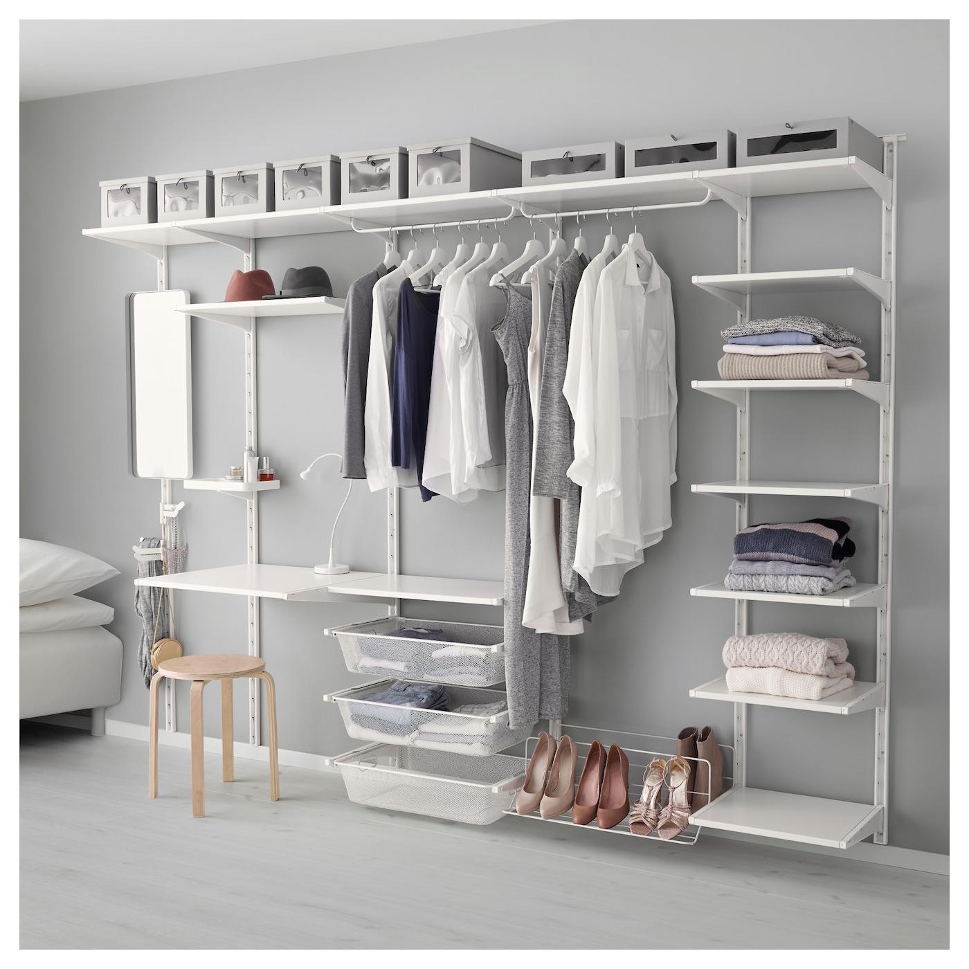 Algot Wall Upright Shelf Triple Hook White 278x41x199 Cm