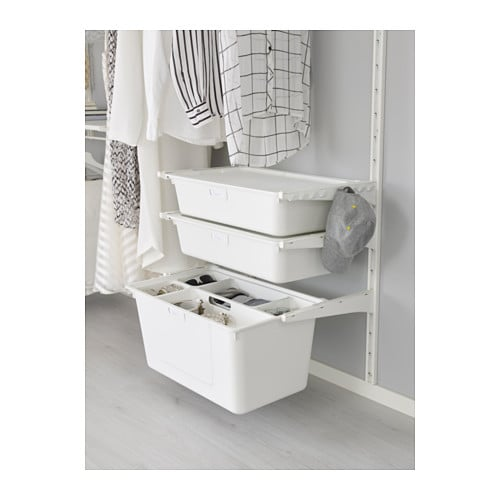 IKEA ALGOT wall upright/shelves/box Can also be used in bathrooms and other damp areas indoors.