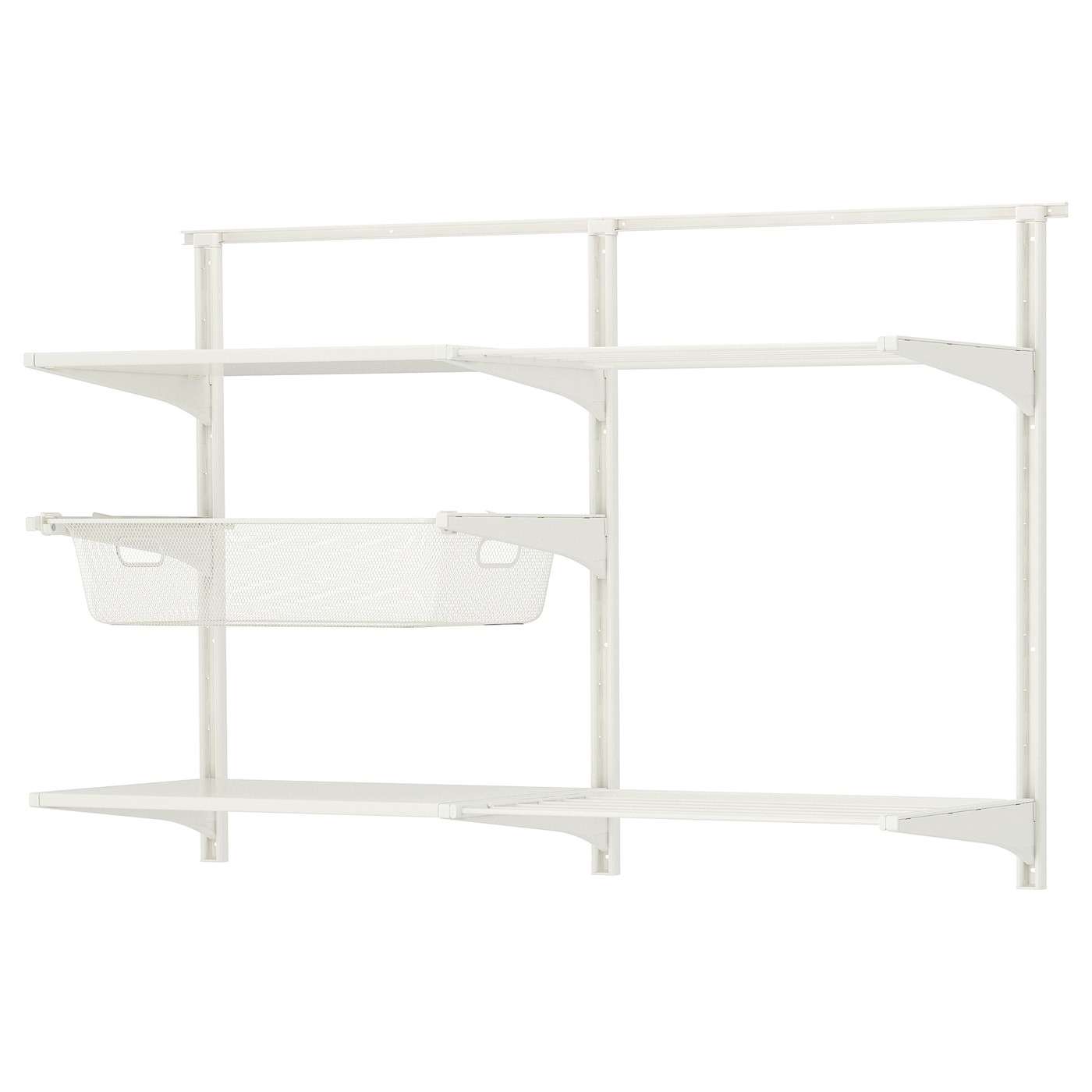 algot wall upright shelves drying rack white 132x41x87 cm. Black Bedroom Furniture Sets. Home Design Ideas