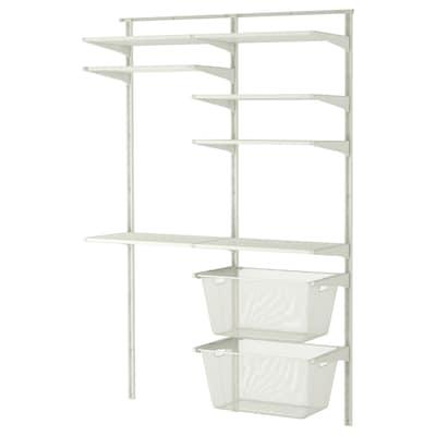 ALGOT wall upright/shelves/drying rack white 132 cm 41 cm 199 cm