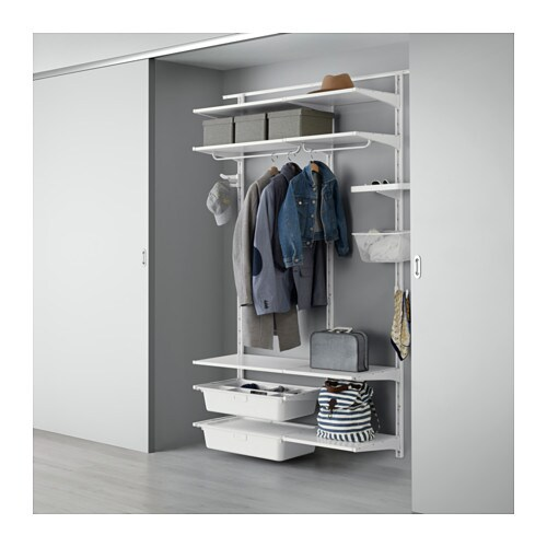 IKEA ALGOT wall upright/shelves/rod Can also be used in bathrooms and other damp areas indoors.