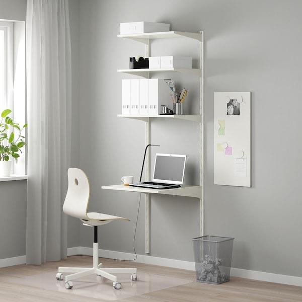 ALGOT Wall upright/shelves, white, 66x61x197 cm