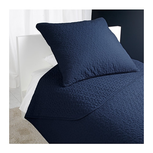 IKEA ALINA bedspread and cushion cover Extra soft since the bedspread and cushion cover are quilted.