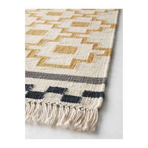 alvine ruta rug flatwoven handmade white yellow 170x240. Black Bedroom Furniture Sets. Home Design Ideas