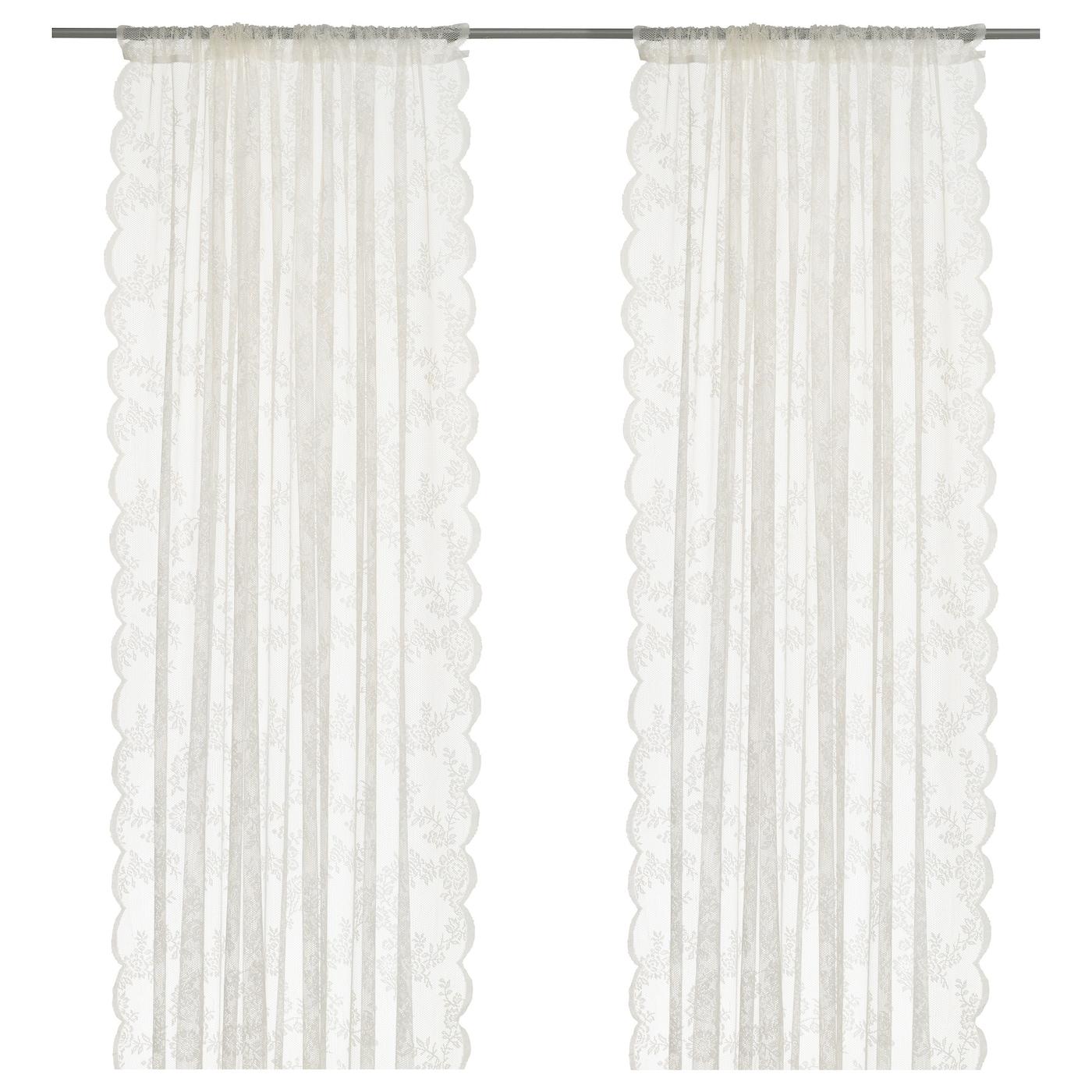 ALVINE SPETS Net curtains 1 pair f white 145x250 cm IKEA
