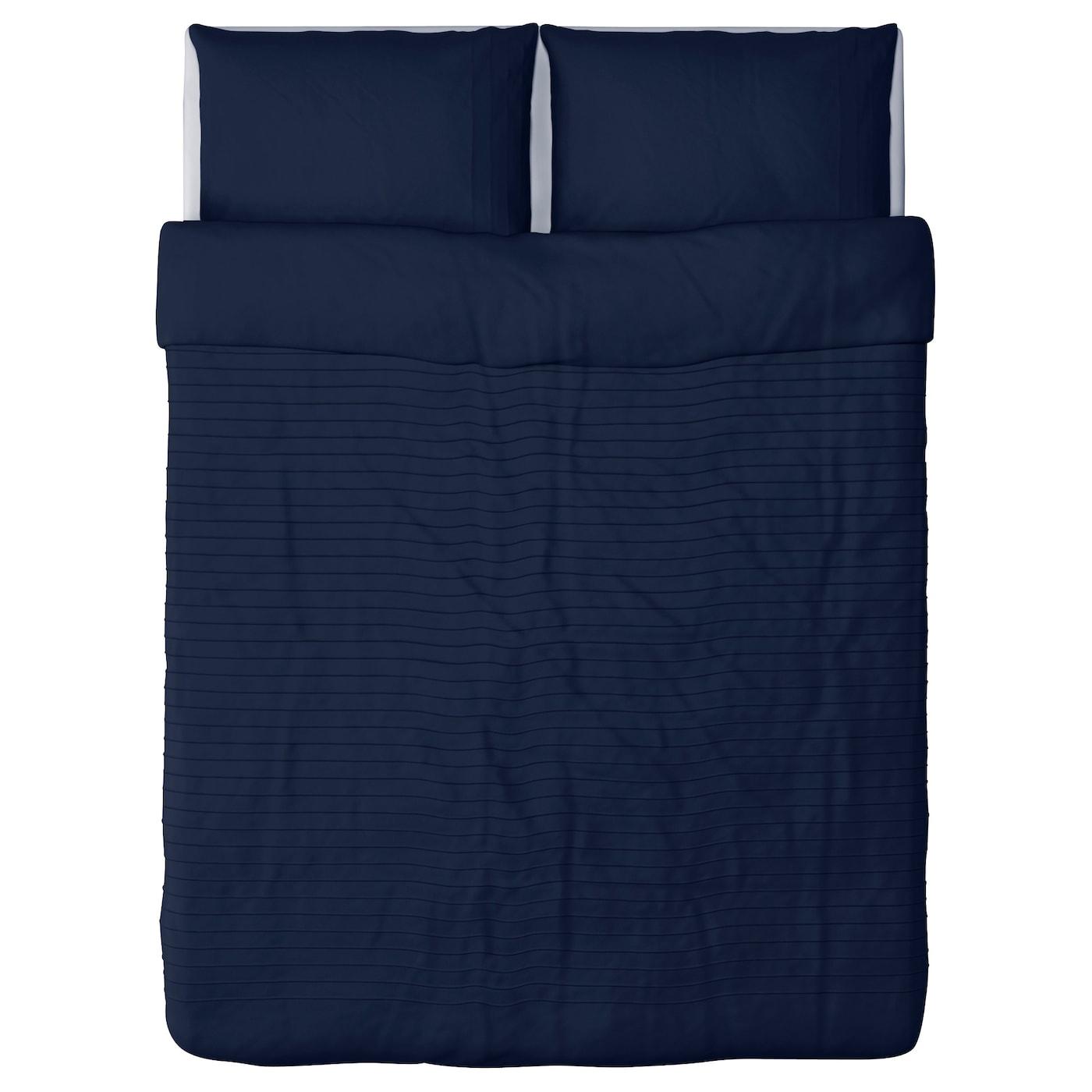alvine str quilt cover and 2 pillowcases blue 200x200. Black Bedroom Furniture Sets. Home Design Ideas