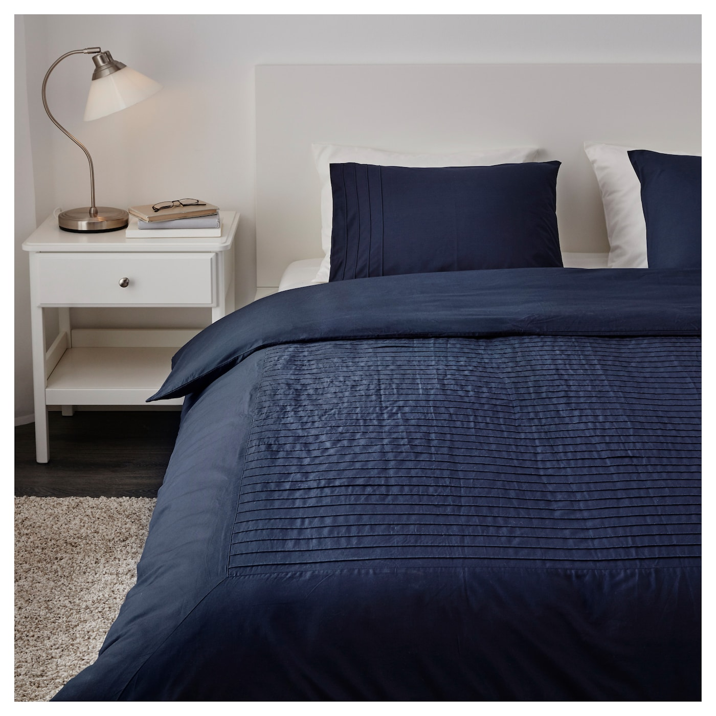 Alvine str quilt cover and 2 pillowcases blue 200x200 for Ikea blue bed