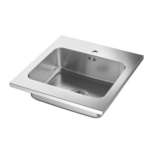 IKEA AMMERÅN onset sink, 1 bowl 25 year guarantee. Read about the terms in the guarantee brochure.