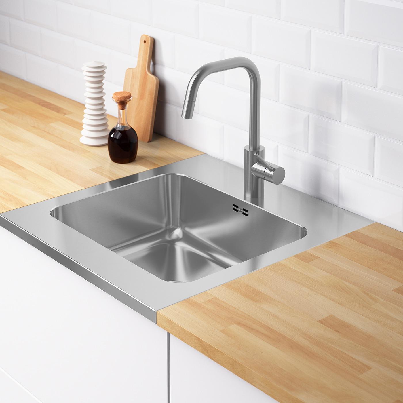 Ammeran Onset Sink 1 Bowl Stainless Steel Ikea Ireland