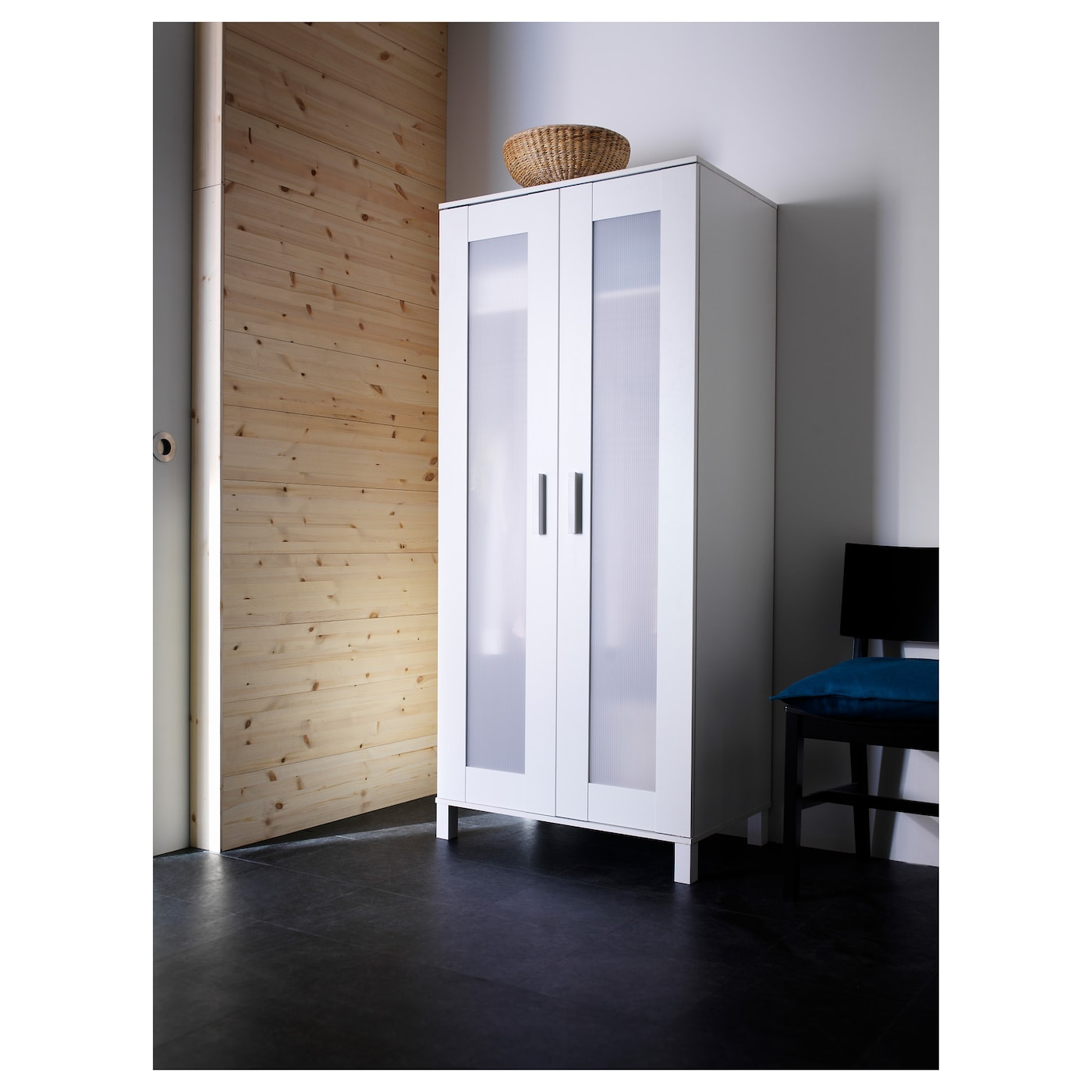 Charmant IKEA ANEBODA Wardrobe Adjustable Hinges Ensure That The Doors Hang Straight.