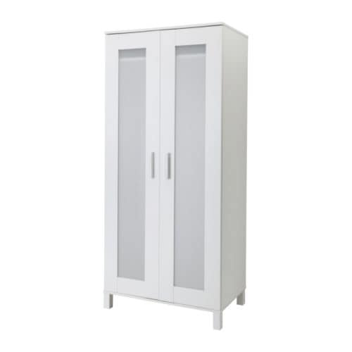 KVIKNE Wardrobe with 2 sliding doors White 120x190 cm - IKEA
